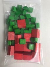 Monopoly Game Board Wood 32 Green Houses 12 Red Hotels Replacement Parts Deluxe