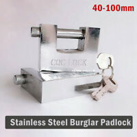 High Security Container Padlock Garage Trailer  Heavy Duty Lock Box Pad Shutter
