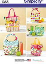 Simplicity SEWING PATTERN 1385 Art Caddies,Lunch Bags & Snack Bag
