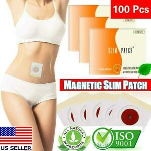100 Pcs Magnetic Slim Slimming Patch Diet Weight Loss Detox belly Pads Burn Fat