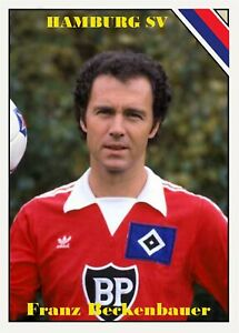 2020 All-Star Soccer CTNW #1 Franz Beckenbauer Hamburg SV Custom Card