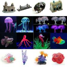 Artificial Water Grass Coral Plants Animals Aquarium Fish Tank Ornament Decor