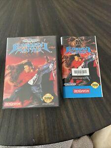 Sega Genesis Game Elemental Master Case And Manual Only No Game