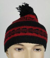 Ralph Lauren Womens Black Red Wool Beanie Hat NWT