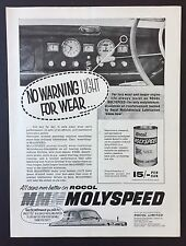 Magazine Advert ROCOL MOLYSPEED Oil Reinforcement CAR Engine 1961 Full Page