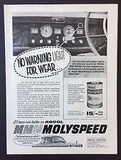 Magazine Advert ROCOL MOLYSPEED Oil Reinforcement CAR Engine 1961 Full Page