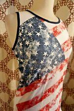 CMH Cat & Jack American Flag Sleeveless Casual Blouse Sz XL Xlarge CC052