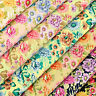 Cotton Fabric by FQ Flower Field Retro Floral Quilting Patchwork FabricTime VK91