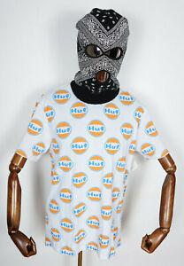 Huf Worldwide Skateboard T-Shirt Tee Shirt Ignite All Over White in L