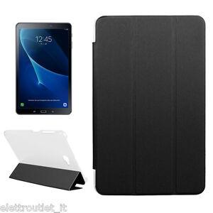 SMART COVER CUSTODIA Integrale SUPPORTO per Samsung Galaxy Tab A6 2016 10.1 Nera