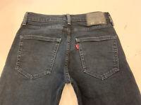 Levi 512 Jeans Slim Tapered Blue Stretch Denim Mens Size 29 x 32