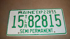 Maine trailer semi permanent license plate