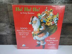 """Suns Out 1000 Piece Puzzle Ho! Ho! Ho! 22.75""""× 36"""" Puzzle Santa Claus Christmas"""