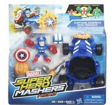 Marvel Super Hero Mashers Captain America Racer Vehicle and Figure