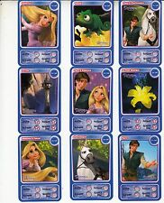 "LOT DE 9 CARTES DISNEY AUCHAN  ""RAIPONCE"""