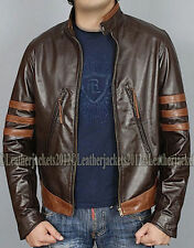 Zip Leather Unbranded Regular Size Coats & Jackets for Men