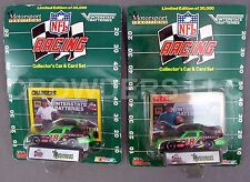Nfl Racing Car & Card Set San Francisco 49ers & San Diego Chargers Nascar '92