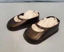 "5 VINTAGE 1950s un-used Fashion DOLL SHOES black PLASTIC high heels 1 1//2 x 5//8/"""