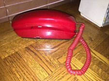 Vintage Red Push Button Wall Mount Telephone
