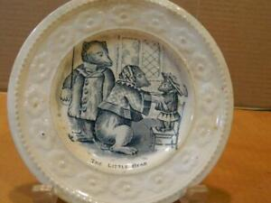 """The Three Bears """"The Little Bear"""" Child's 6 1/4"""" Porcelain Plate Antique"""