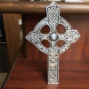 Bozell Black & Silver Color Metal Celtic Cross Wall Hanging Crucifix Home Decor
