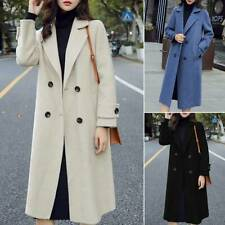 Womens Ladies Lapel Coat Jacket Winter Long Trench Outwear Casual Overcoat Parka