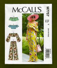 NEW! Off Shoulder Mini Tops & Pants Sewing Pattern (Sizes XS-M) McCalls 7757