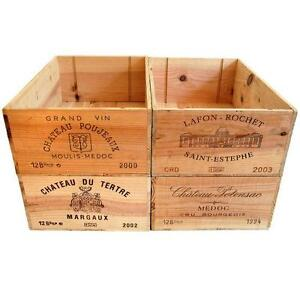 12 bottle size - Wooden Wine Box Crate for Vintage Shabby Chic Home Storage #