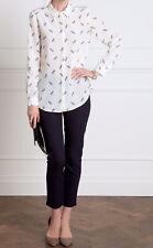 Pure Dragonfly Silk Blouse UK 18 Long Shirt Cream