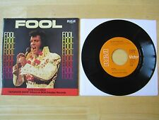 Elvis 45rpm record & Picture Sleeve, Fool/Steamroller Blues, RCA # 74-0910 1973