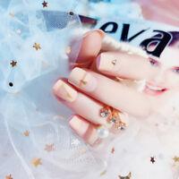 24pcs acrylic french fake finger nails full cover fake false nail art tips&p