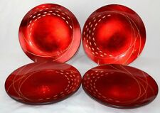 Lenox Holiday Sweets and Treats Set of 4 Plates Red Gold Appetizer Salad