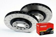 Mazda RX8 Brake Discs Pads Brake Depot C Hook Grooved and Mintex Pads 323mm
