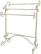 BAIN LOOP Stand Porte-serviettes shabby style rustique ancien métal salle de