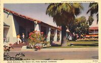 Linen Postcard South Entrance @ The Desert Inn in Palm Springs California~110369