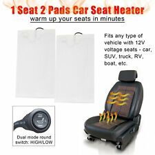 Carbon 2 Pads Fiber Car Seat Heater Kits Heating Warmer Heated Cushion Universal