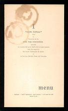 HOTEL TAMANACO INTERCONTINENTAL MENU 1 NOCHE ITALIANA 1956 CARACAS VENEZUELA