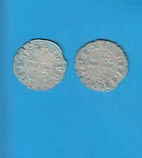 PHILIPPE IV Le Bel (1285-1314) Double Tournois billon Lot L PORT GRATUIT FRANCE