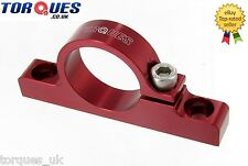 Billet Aluminium Fuel Filter Cradle / Clamp In Red 30mm I.D
