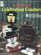 Christmas Celebration Coasters ~  plastic canvas book ~ House of White Birches