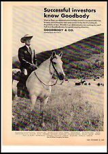1967 Goodbody & Co Investment Banking White Horse Cattle Ranch Vintage Print Ad