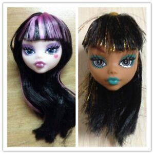 Kids Demon Monster Doll Head with Wig Hair DIY Accessories For Monster High Doll