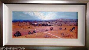 Renowned Australian Artist  Ken Farrow original oil titled 'Western Roads'.