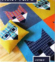 Fancy Fox 2  - fun modern pieced quilt PATTERN - 4 sizes - Elizabeth Hartman