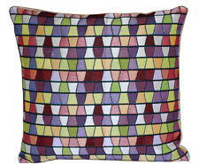 Multicoloured Aztec Check Print 16 X 16 Cushion Cover Pillow for Sofa Bed