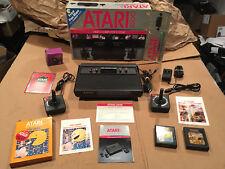1983 ATARI VCS 2600 Black Vader Console System LOT Complete Set in Original BOX