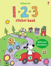 NEW  USBORNE 1 2 3 STICKER book with over 150 STICKERS