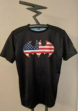 RARE Under Armour Mens BATMAN Logo USA American Patriotic Compression Shirt XL