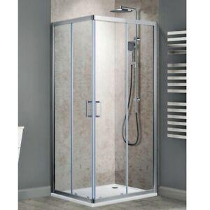 Corner Shower Screen Enclosure Sliding Door Adjustable Tempered Glass