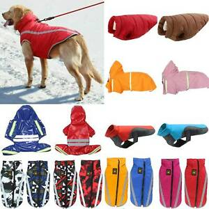 Waterproof Small/Large Pet Puppy Dog Clothes Hoodie Warm Padded Coat Vest Jacket